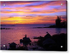Purple Sunset 2 Acrylic Print by Sheila Byers