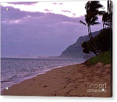 Purple Sunset After The Storm Acrylic Print by Brigitte Emme