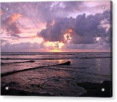 Purple Pink Sunset Acrylic Print by Athena Mckinzie