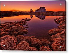 Purple Sunset Acrylic Print by Bragi Ingibergsson -