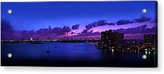 Purple Sunset Acrylic Print by Michael Guirguis