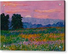 Purple Sunset On The Blue Ridge Acrylic Print by Kendall Kessler