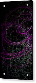 Purple Swirls Acrylic Print