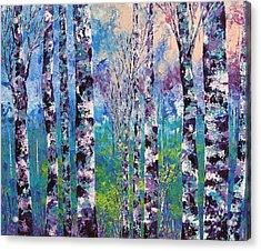 Purple Trees Acrylic Print by Shilpi Singh