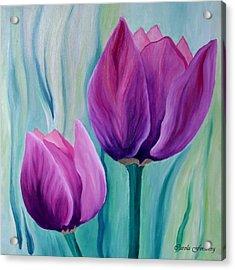 Purple Tulips Acrylic Print by Carola Ann-Margret Forsberg