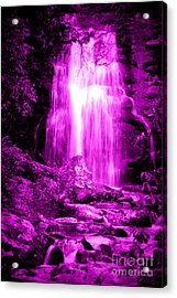 Purple Waterfall Acrylic Print