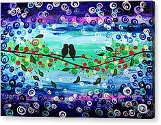 Purple World Acrylic Print by Mariana Stauffer