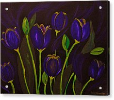 Acrylic Print featuring the painting Purpleluscious by Celeste Manning