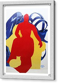 Purrrse Acrylic Print by Eve Riser Roberts
