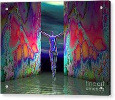 Pushing Boundaries Acrylic Print by Sandra Bauser Digital Art