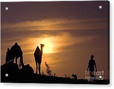 Pushkar Sunset Rajasthan India Acrylic Print by Neville Bulsara
