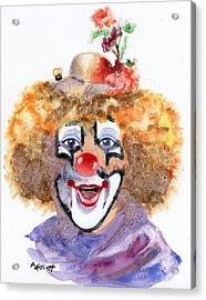 Put On A Happy Face Acrylic Print by Marsha Elliott