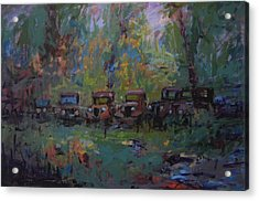 Put Out To Pasture Acrylic Print by R W Goetting