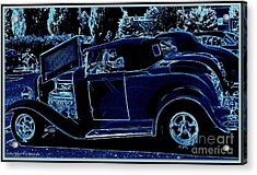 Put The Top Down Acrylic Print by Bobbee Rickard