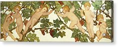 Putti Frolicking In A Vineyard Acrylic Print