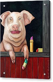 Putting Lipstick On A Pig Acrylic Print