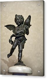 Putto With Dolphin By Verrocchio Acrylic Print by Melany Sarafis