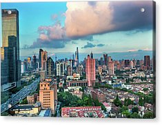 Puxi Pudong Buildings World Modern Acrylic Print by William Perry