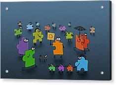 Puzzle Family Acrylic Print