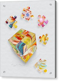 Puzzle Mania Acrylic Print by Gayle Odsather