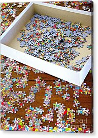 Puzzle Of Life  Acrylic Print by Bobby Mandal