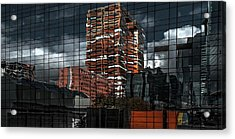 Puzzle Reflection Acrylic Print by Gilbert Claes