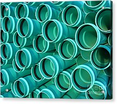Pvc Pipes Acrylic Print by Olivier Le Queinec