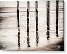 Pylons In Black And White Acrylic Print