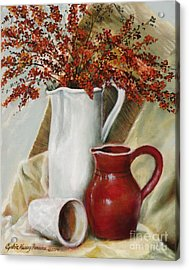 Acrylic Print featuring the painting Pyracantha by Cynthia Parsons