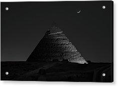 Pyramid At Night Acrylic Print by Vincent Chen