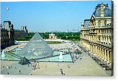 Pyramid At The Louvre Acrylic Print by Kay Gilley