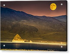 Pyramid Lake Moonrise Acrylic Print