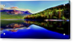 Acrylic Print featuring the digital art Pyramid Mirror 1 by William Horden