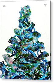 Pyramid Of Frogs And Toads Acrylic Print by Fabrizio Cassetta