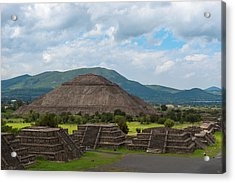 Pyramid Of The Sun As Viewed From Pyramid Of The Moon Mexico Acrylic Print