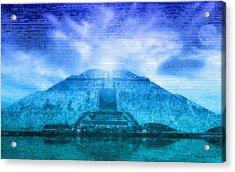 Pyramid Of The Sun Acrylic Print by WB Johnston