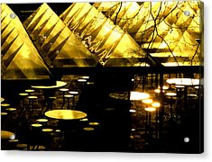 Pyramids And Saucers Acrylic Print