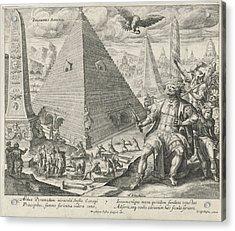 Pyramids Of Egypt, Magdalena Van De Passe Acrylic Print by Magdalena Van De Passe And Crispijn Van De Passe (i)