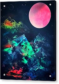 Pyramids Of The Universe  Acrylic Print by Gerry Smith