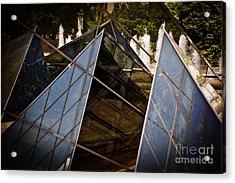 Pyramids Reflected Acrylic Print by Tom Gari Gallery-Three-Photography