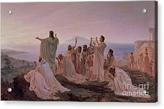 Pythagoreans' Hymn To The Rising Sun Acrylic Print by Fedor Andreevich Bronnikov