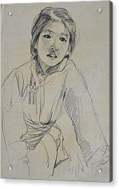 Qimuge Acrylic Print by Ji-qun Chen