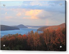 Quabbin Reservoir Enfield Lookout Late Foliage Rainbow Acrylic Print