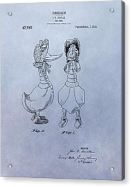 Quacky Doodles Patent Acrylic Print