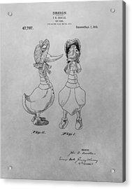 Quacky Doodles Patent Drawing Acrylic Print