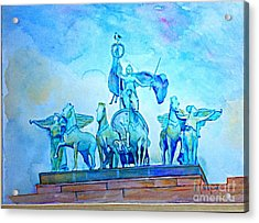 Quadriga Above The Arch At Grand Army Plaza Acrylic Print
