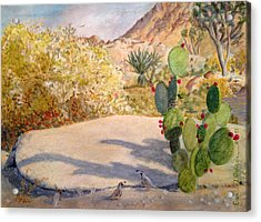 Acrylic Print featuring the painting Quail Valley by Dan Redmon