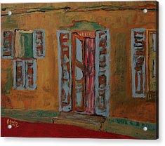 Quaint Home Acrylic Print by Oscar Penalber