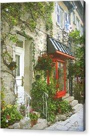Quaint Street Scene Quebec City Acrylic Print
