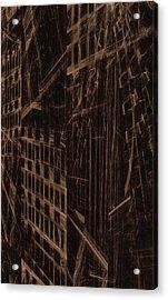 Acrylic Print featuring the digital art Quake - Ground Zero by GJ Blackman